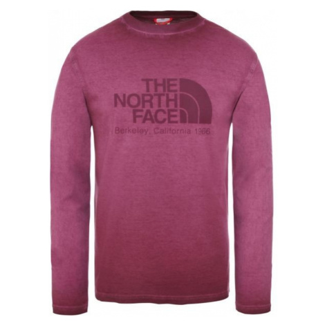 The North Face L/S WASHED BT-EU M red wine - Men's long sleeve T-shirt