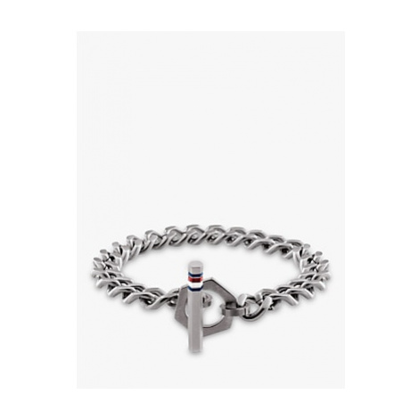 Tommy Hilfiger Men's Stainless Steel Toggle Chain Bracelet, Silver