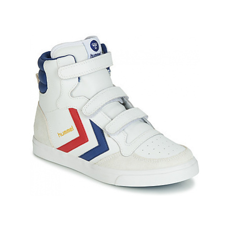 Hummel STADIL JR VELCRO HIGH girls's Children's Shoes (High-top Trainers) in White