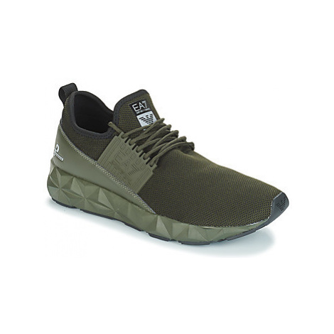 Emporio Armani EA7 ULTIMATE C2 SLIP ON men's Shoes (Trainers) in Green