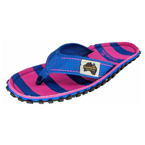 flip flops Gumbies Islander - Pink & Blue Stripe - women´s
