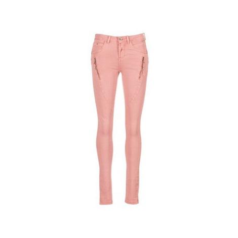 Cream BIBIANA TWILL women's Jeans in Pink