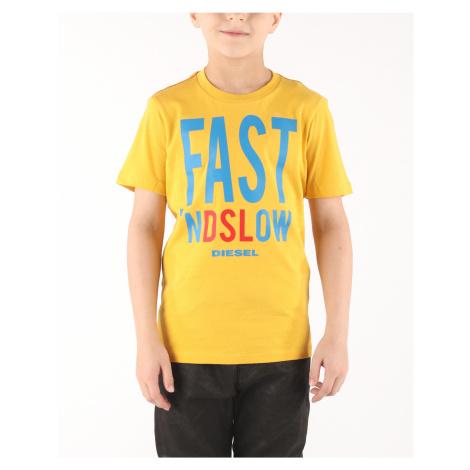 Diesel Trace Kids T-shirt Yellow