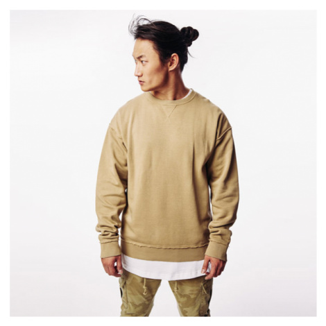 Urban Classics Oversized Open Edge Crew warm sand
