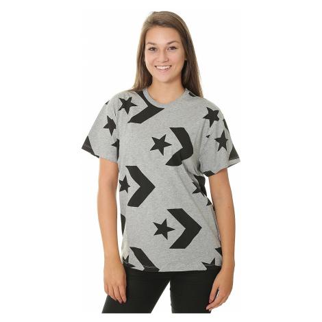 T-Shirt Converse Star Chevron Print Crew/10007045 - A02/Vintage Gray Heather Multi - women´s