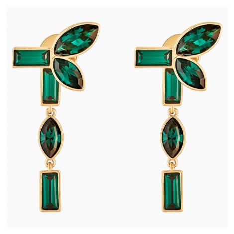 Beautiful Earth by Susan Rockefeller Pierced Earring Jackets, Green, Gold-tone plated Swarovski