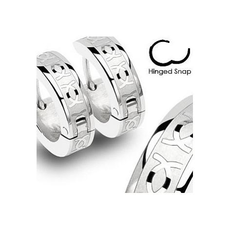 earrings Body Art SSE - 002/Hinged Hoop CC Engrave