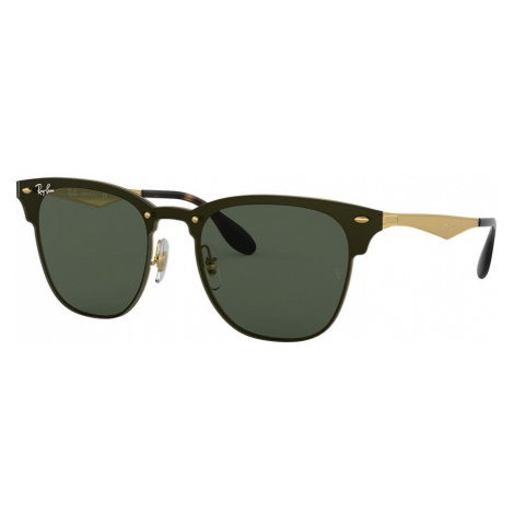 Ray Ban Unisex RB3576N BLAZE CLUBMASTER - Frame color: Gold, Lens color: Green, Size 01-47/140
