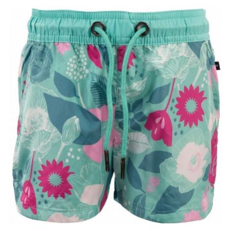 ALPINE PRO ZAVAHO light green - Girls' summer shorts