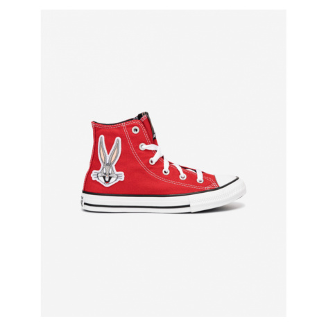 Converse Bugs Bunny Chuck Taylor All Star Hi Kids Sneakers Red
