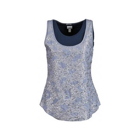 Alba Moda LAGENSHIRT MIT TOP women's Vest top in Blue