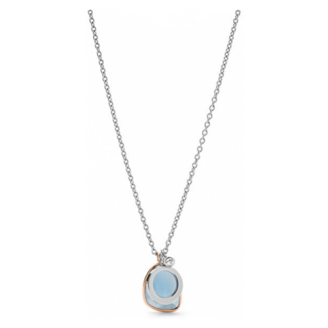 Fossil Women Unique Teardrop Two-Tone Stainless Steel Necklace Gold/Silver - One size