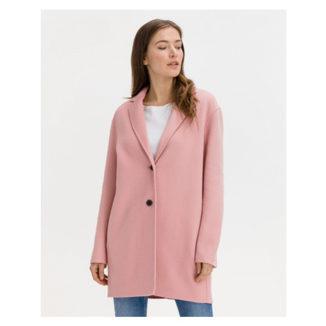 Tommy Hilfiger Double Face Wool Coat Pink