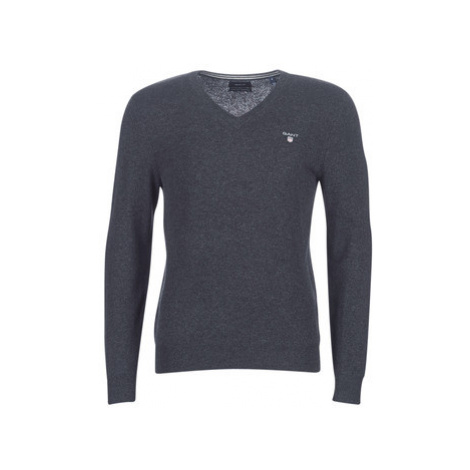 Gant SUPERFINE LAMBSWOOL V NECK men's Sweater in Grey