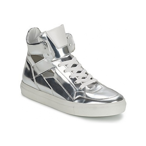 Kennel + Schmenger TONIA women's Shoes (High-top Trainers) in Silver Kennel & Schmenger