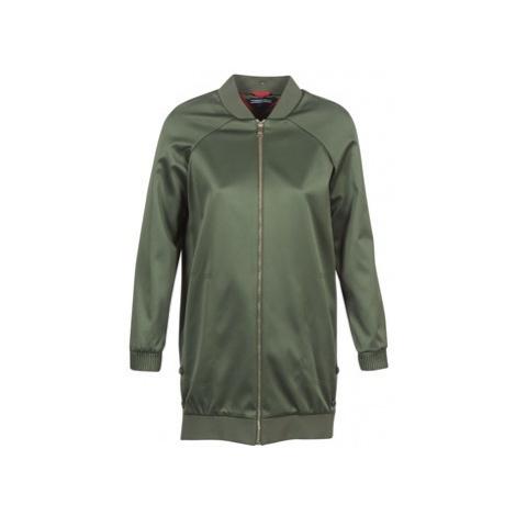 Tommy Hilfiger MABEL-LONG-BOMBER women's Jacket in Kaki