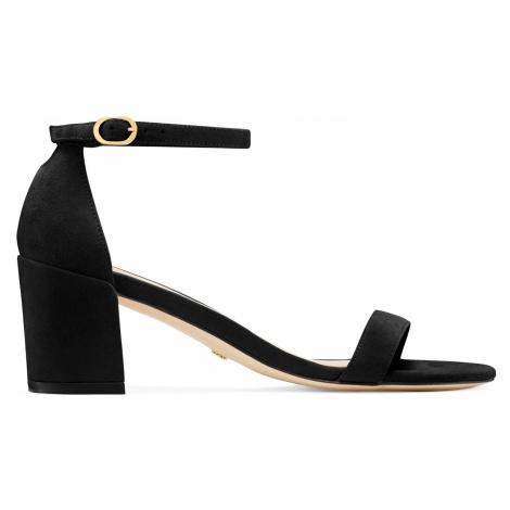 Stuart Weitzman Sandals Women - SIMPLE BLACK SUEDE