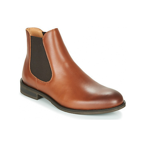 Selected LOUIS LEATHER CHELSEA men's Mid Boots in Brown