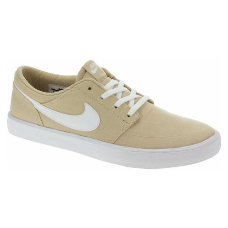 shoes Nike SB Portmore II Solar Canvas - Desert Ore/White/Desert Ore/Black - men´s