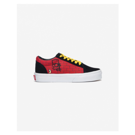 Vans The Simpsons Old Skool El Barto Kids Sneakers Black Red