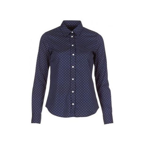 Gant POLKADOT STRETCH BROADCLOTH women's Shirt in Blue