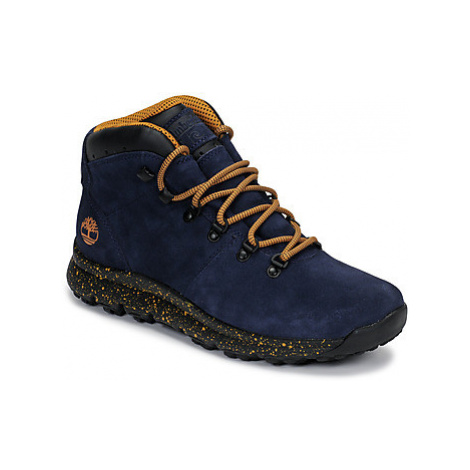 Timberland WORLD HIKER MID men's Mid Boots in Blue