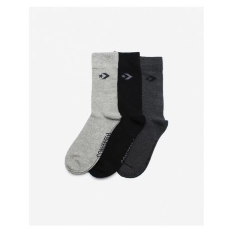 Converse Set of 3 pairs of socks Black Grey