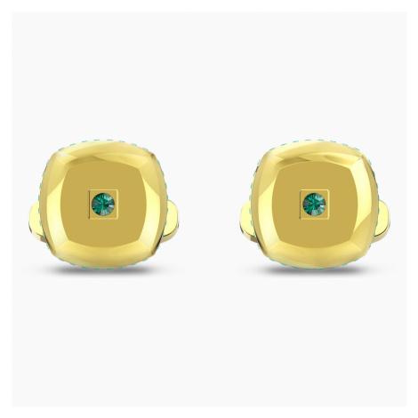 Theo Earth Element Cufflinks, Green, Gold-tone plated Swarovski
