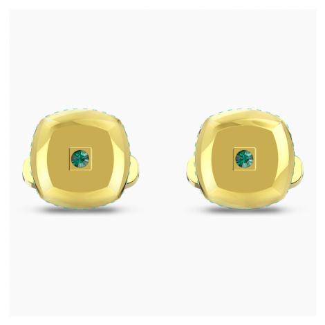 Theo Earth Element Cufflinks, Green, Gold-tone plated Swarovski