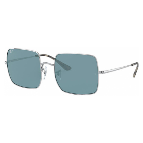Ray-Ban Square 1971 classic Women Sunglasses Lenses: Blue, Frame: Silver - RB1971 919756 54-19