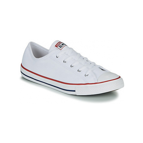 Converse CHUCK TAYLOR ALL STAR DAINTY GS CANVAS OX women's Shoes (Trainers) in White