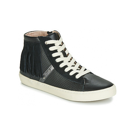 Geox J KILWI GIRL girls's Children's Shoes (High-top Trainers) in Black