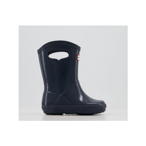Hunter First Classic Pull On Welly NAVY GLOSS