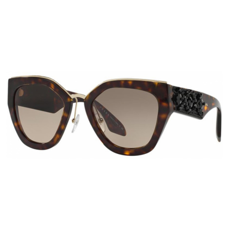 Prada Woman PR 10TS - Frame color: Tortoise, Lens color: Grey-Black, Size 52-22/140