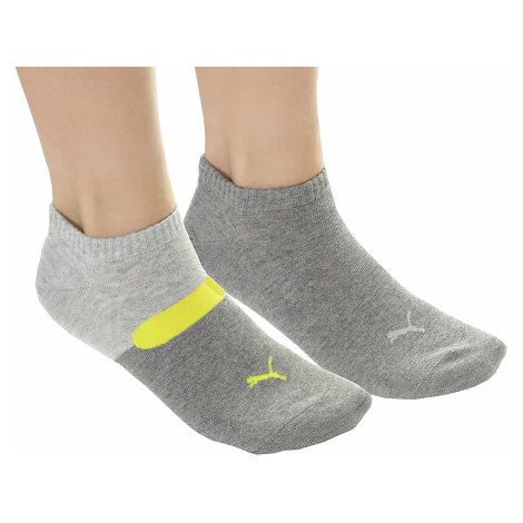 socks Puma 273003001/Sneaker Taping 2 Pack - Gray/Yellow