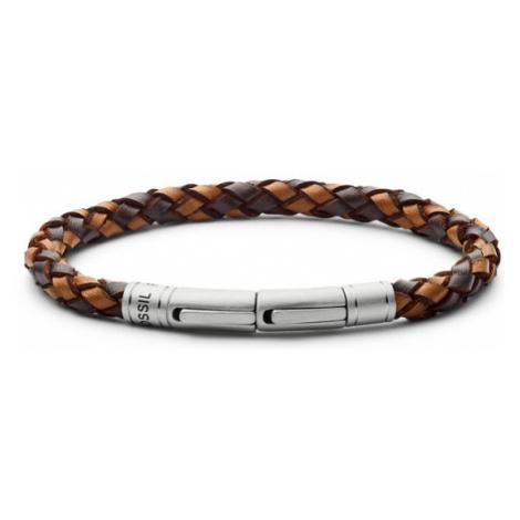 Fossil Men Braided Bracelet - Brown - One size