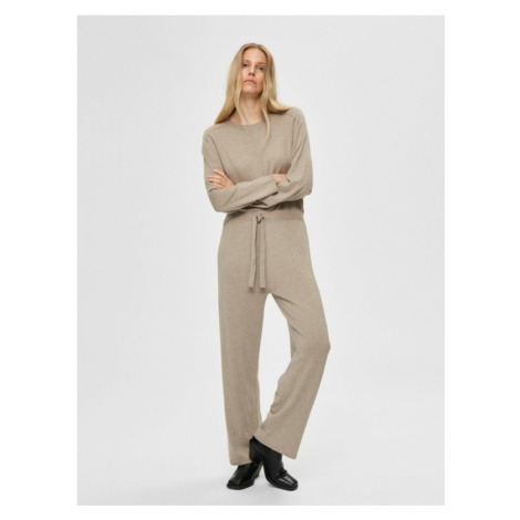 Selected Femme Finka Overall Brown