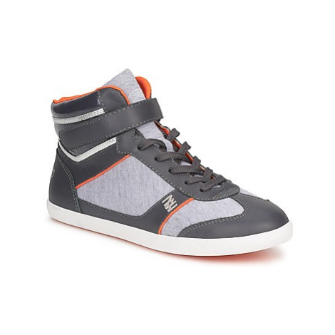 Dorotennis MONTANTE LACETS VELCRO women's Shoes (High-top Trainers) in Grey