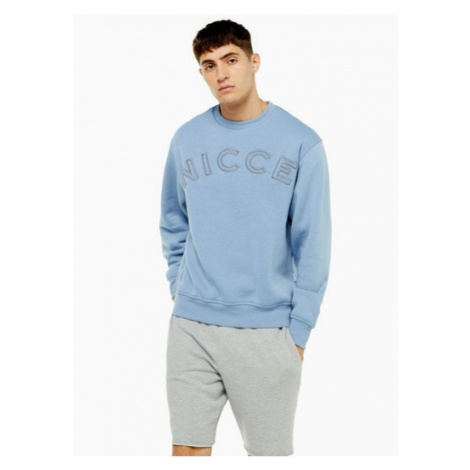 Mens Nicce Blue Oversized Bower Sweatshirt, Blue