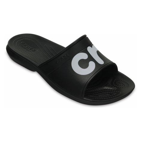 shoes Crocs Classic Graphic Slide - Black/White