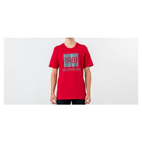 Calvin Klein 1981 Bold Lounge Logo Tee Red