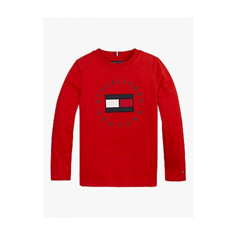 Tommy Hilfiger Boys' Organic Cotton Heritage Logo Long Sleeve T-Shirt