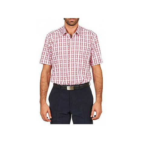 Pierre Cardin CH MC CARREAU GRAPHIQUE men's Short sleeved Shirt in White