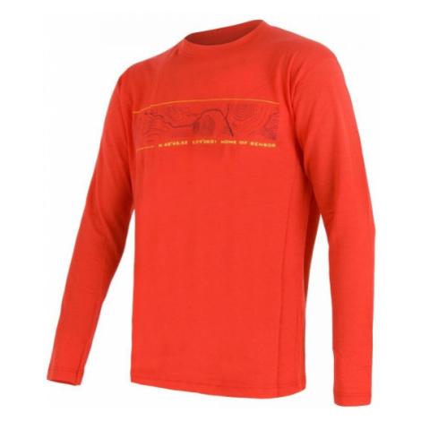 Sensor MERINO ACTIVE PT GPS orange - Men's functional T-shirt