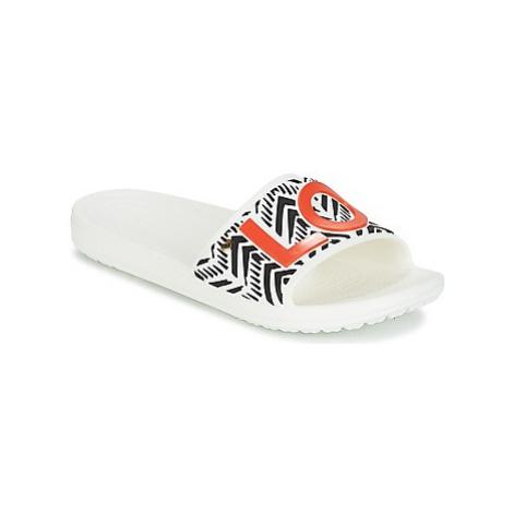 Crocs DREW X CROCS SLOANE TRIBAL SLIDE W women's in White