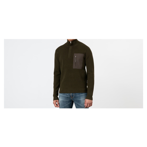 Norse Projects Fjord Tech Half Zip Sweatshirt Beech Green