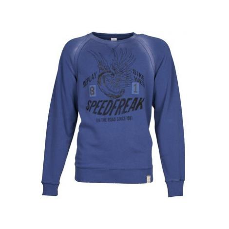 Replay M6346 men's Sweatshirt in Blue