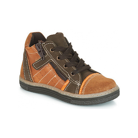 Citrouille et Compagnie JESSICA boys's Children's Shoes (High-top Trainers) in Brown