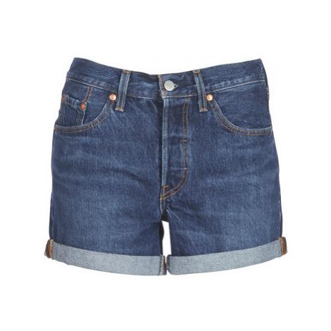 Levis 501 SHORT LONG women's Shorts in Blue Levi´s