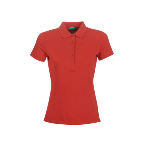 Benetton MONNIKHA women's Polo shirt in Red United Colors of Benetton